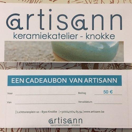 Chèque cadeau de style artisann