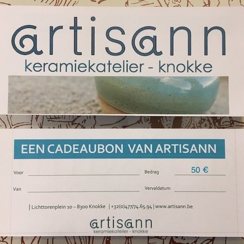 Gift voucher with style at artisann