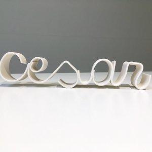 K!-design Letters in porselein