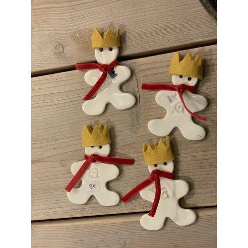 """ARTISANN-design Unique et exclusif est """"Le Petit Prince"""" """"fabriqué en porcelaine avec une couronne en feutre jaune"""