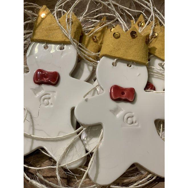 """Uniek en exclusieve kerstdecoratie in porselein in het thema van """"De Kleine Prins"""" wordt als Special Edition verkocht bij Artisann."""