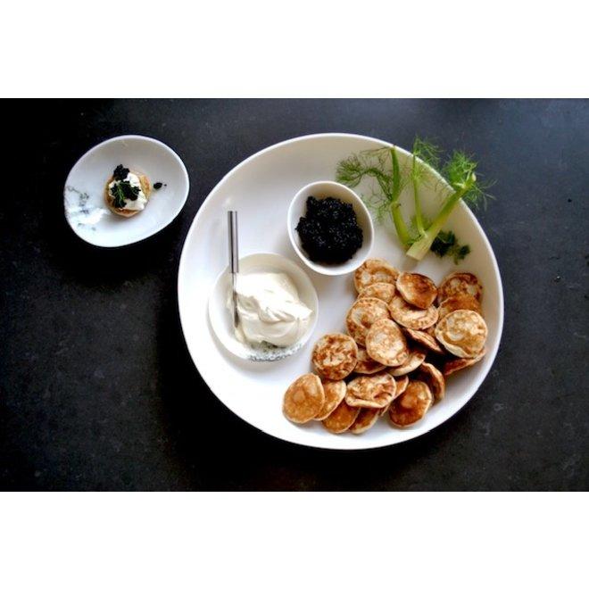 Porseleinen schaal Bonny ideaal voor sla, groenten, fruit, sharing-food,