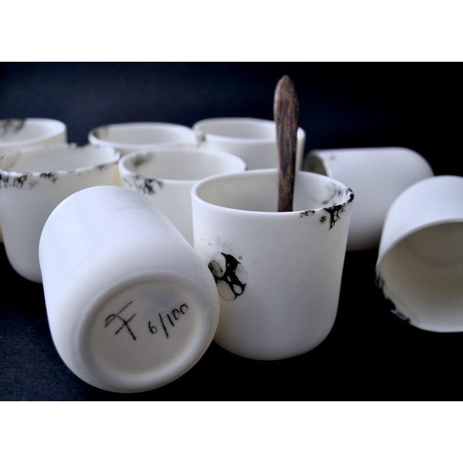 Mario Cup-amuse van het porseleinen Bonny tafelservies is elegant in vorm en een blikvanger voor elke tafel
