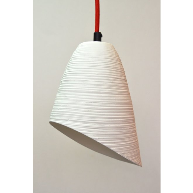 Original fine lamp in white porcelain with a beautiful transparency.