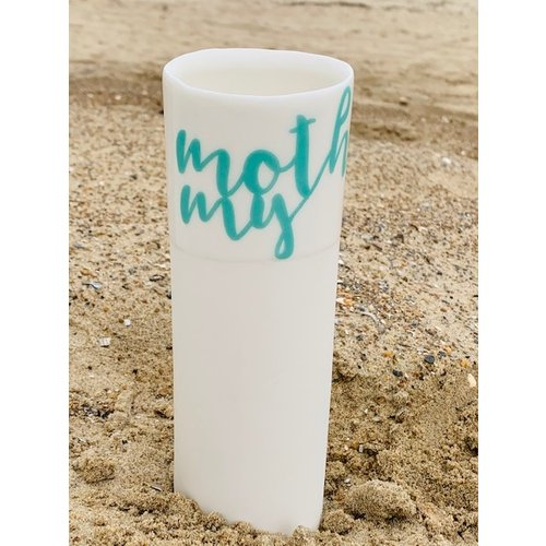 """ARTISANN-design  """"My mother"""" is such a strong bond and these feelings speak for themselves in a unique porcelain vase in cylinder form"""