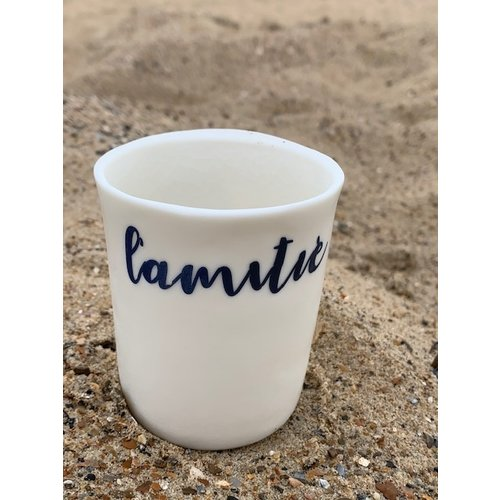 """ARTISANN-design   """"Amitié, Plaisir"""" two valuable words in our lives and now baked on porcelain. For sale at Artisann in Knokke."""
