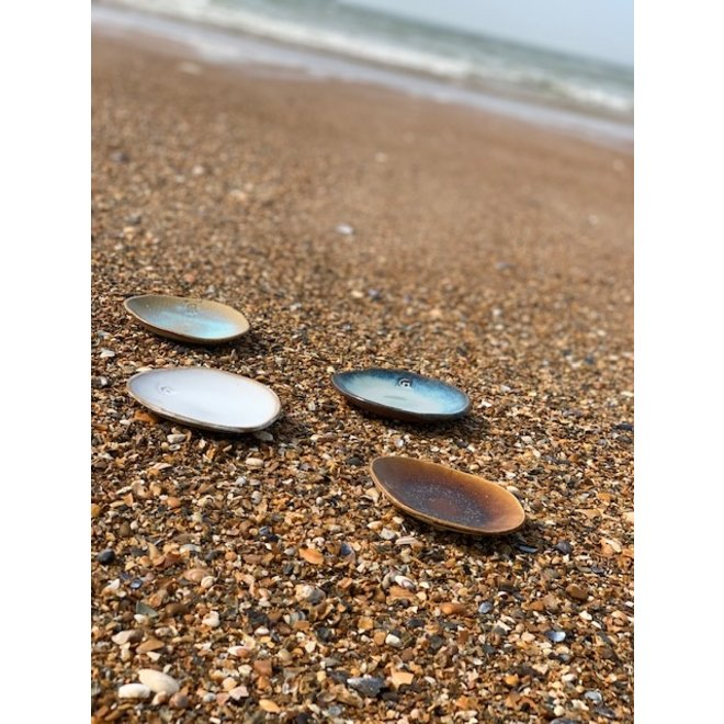 """Scale """"Beach"""" used for snacks, but also very nice as a saucer of a coffee bag or mug."""