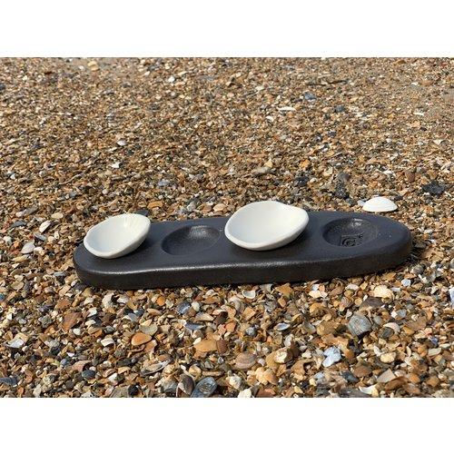 ARTISANN.i-design Une façon originale de présenter du sel, du poivre, de l'huile et du beurre sur votre table