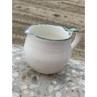 Milk jug porcelain Green and Blue