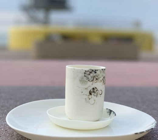 Handmade porcelain contemporary tableware radiates finesse and gives your table a unique feeling