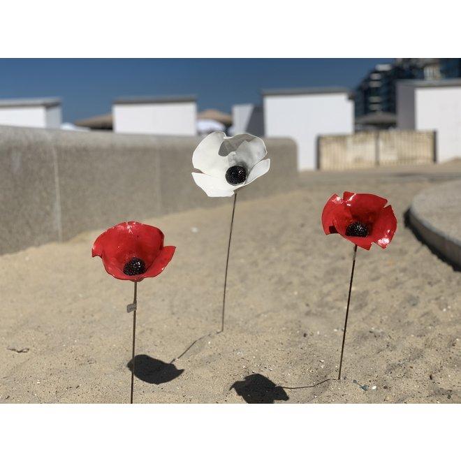 Whgite Poppy Flower porcelain