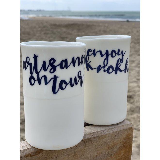 Personnalisé la tasse ou vase avec nom ou mot à commander