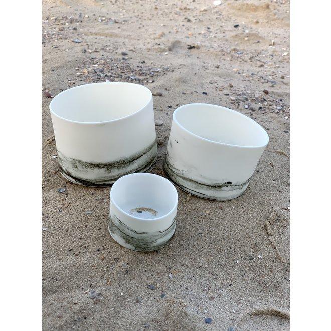 Lanternes en porcelaine Claire qui servent également de bols ou de bocaux pour tapas, noix, chips, snacks