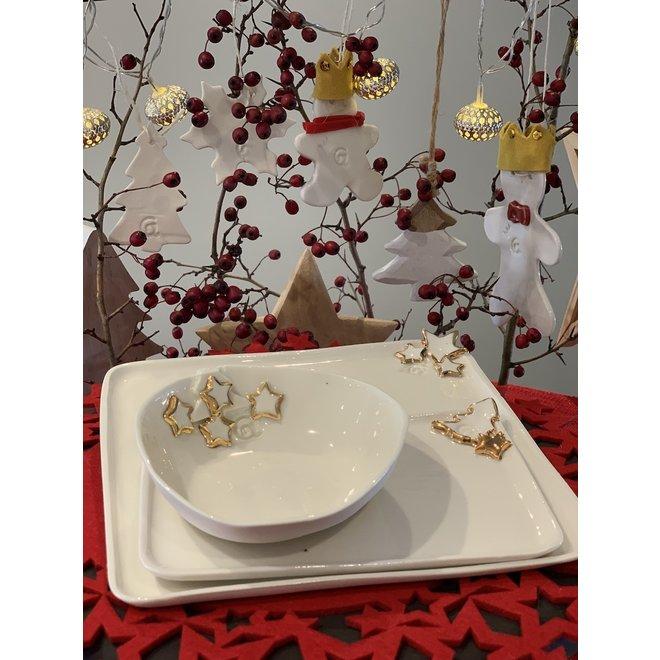"""Porcelain Christmas tableware """"Golden Star"""""""