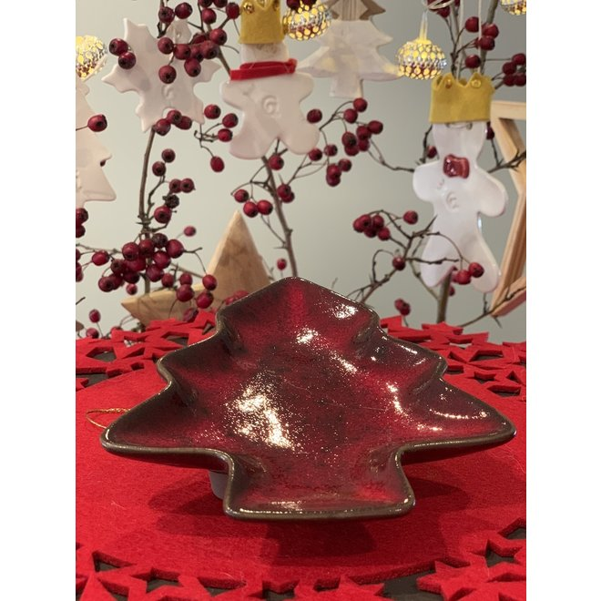 Handgemaakte keramische kerstboom multifunctioneel als bord, schaaltje, decoratie