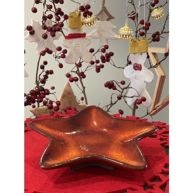 Handgemaakte keramische kerstster multifunctioneel als bord, schaaltje, decoratie
