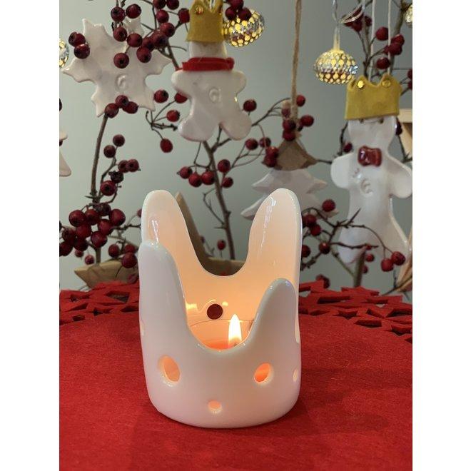 Lanterne Wave en porcelaine à la main avec glaçure brillante