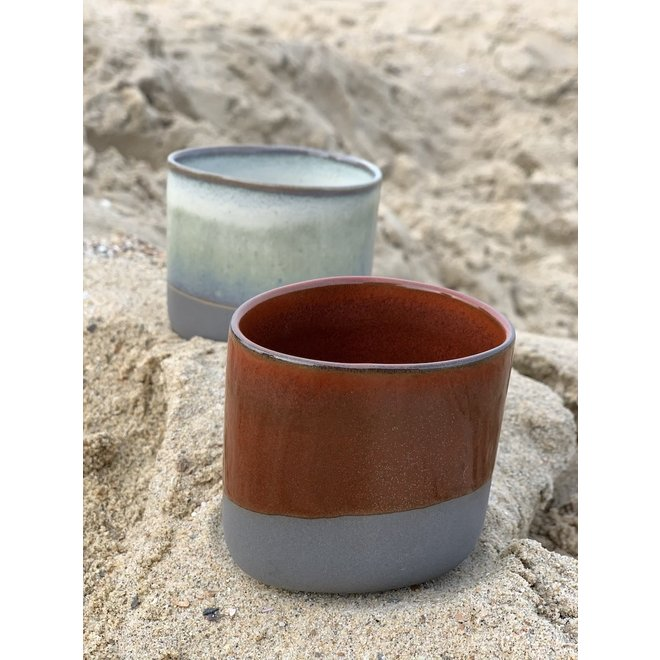 Handmade Ceramic IND!A cup made of gray clay with a very refined glaze Handmade Ceramic