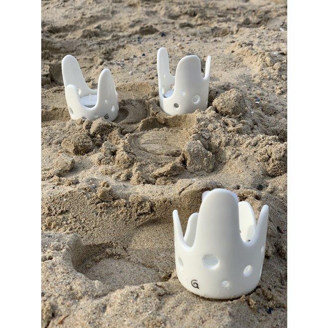 Handmade porcelain Wave lantern with shiny glaze