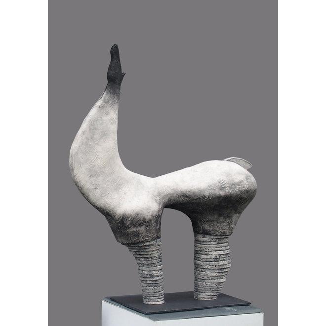 """Genummerd kunstwerk Abhaya betekent schaduw  binnen de reeks """"contrasten beweging"""""""