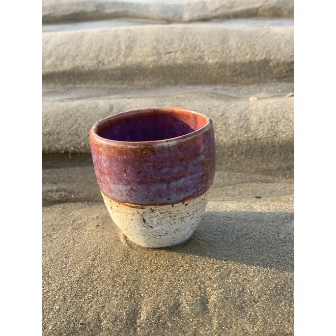 """Contemporary, handmade ceramic cup from the tableware and collection """"Sunrise, Pink"""""""