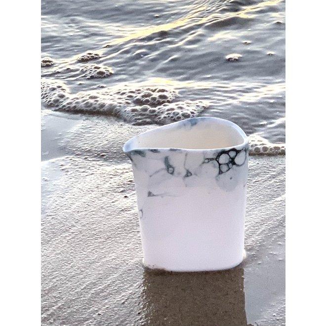 Porcelain contemporary handmade pitcher 'Bulles'