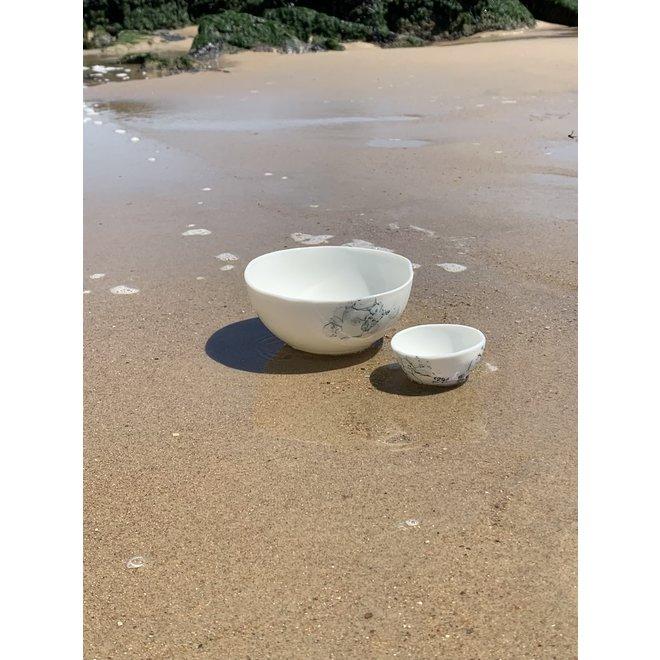 Bol contemporain en porcelaine 'Bulles'