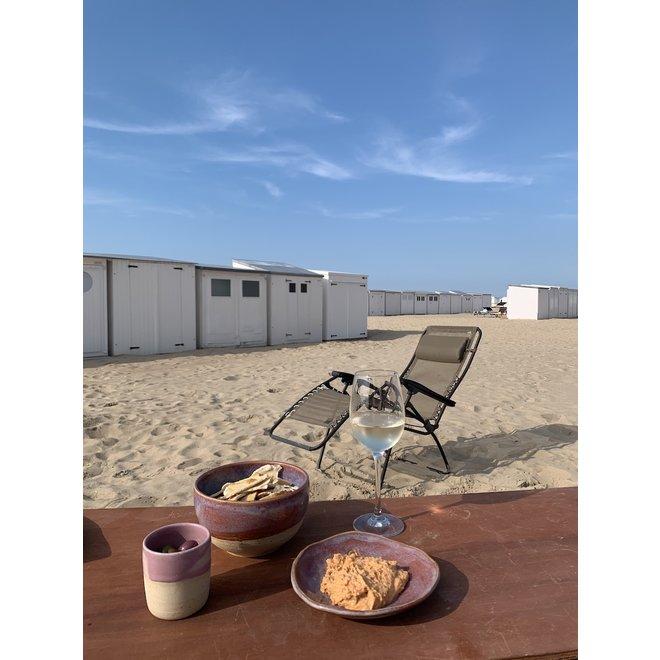 """Plat creuse """"Sunrise"""" utilisés pour les collations, mais aussi très agréables comme soucoupe pour un sac à café ou une tasse."""