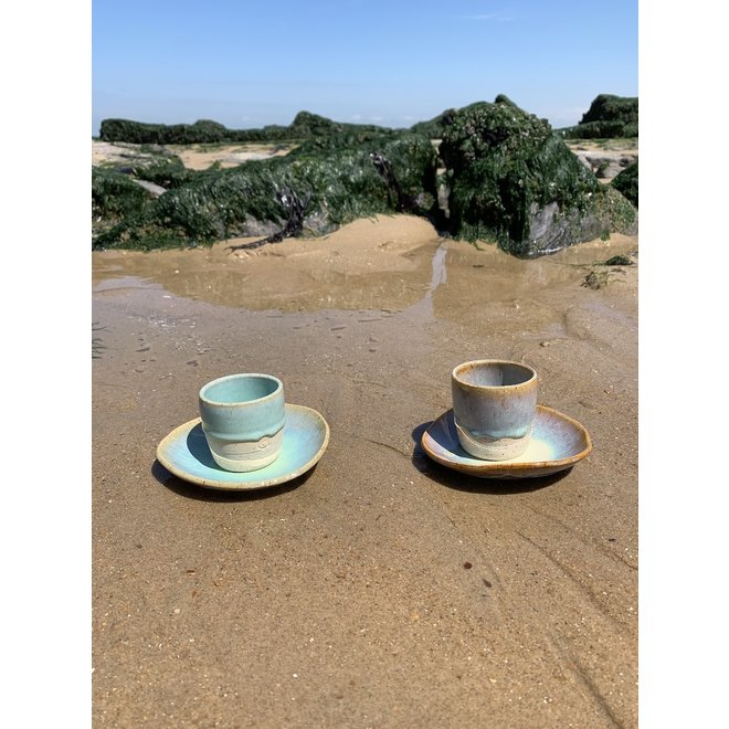 """Scale """"Lagune"""" used for snacks, but also very nice as a saucer of a coffee cup or mug."""