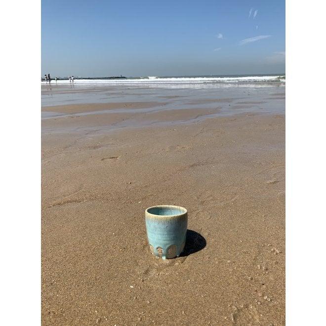 """Tasse contemporain en céramique fait main du service et de la collection """"Lagune"""""""