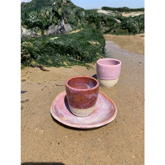"""Contemporary, handmade ceramic cup from the tableware and collection """"Pink"""""""