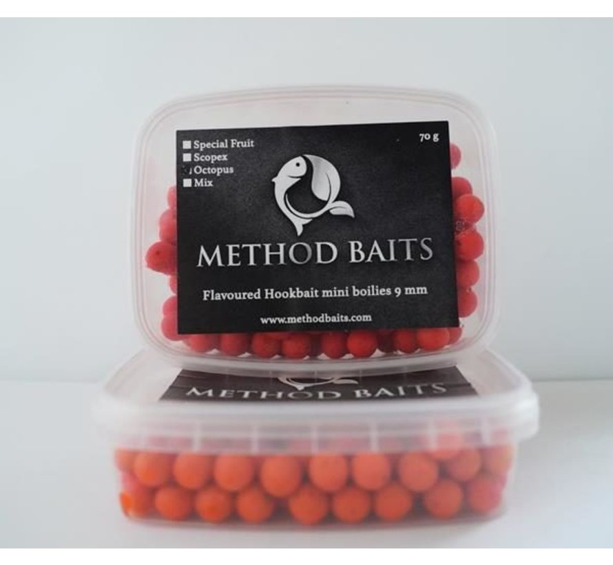Flavoured Hookbaits Mini Boilies 9 mm Scopex