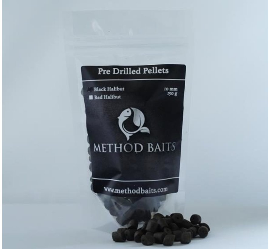 Pre-Drilled Pellets 8 mm – Black Halibut