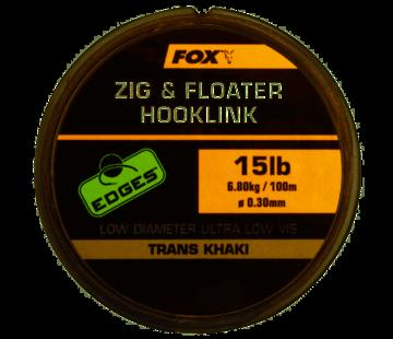 Fox Fox Zig & Floater Hooklink - Trans Khaki
