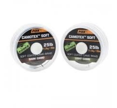 Fox Fox Camotex Soft Coated Camo Braid - Light Camo - Onderlijnmateriaal