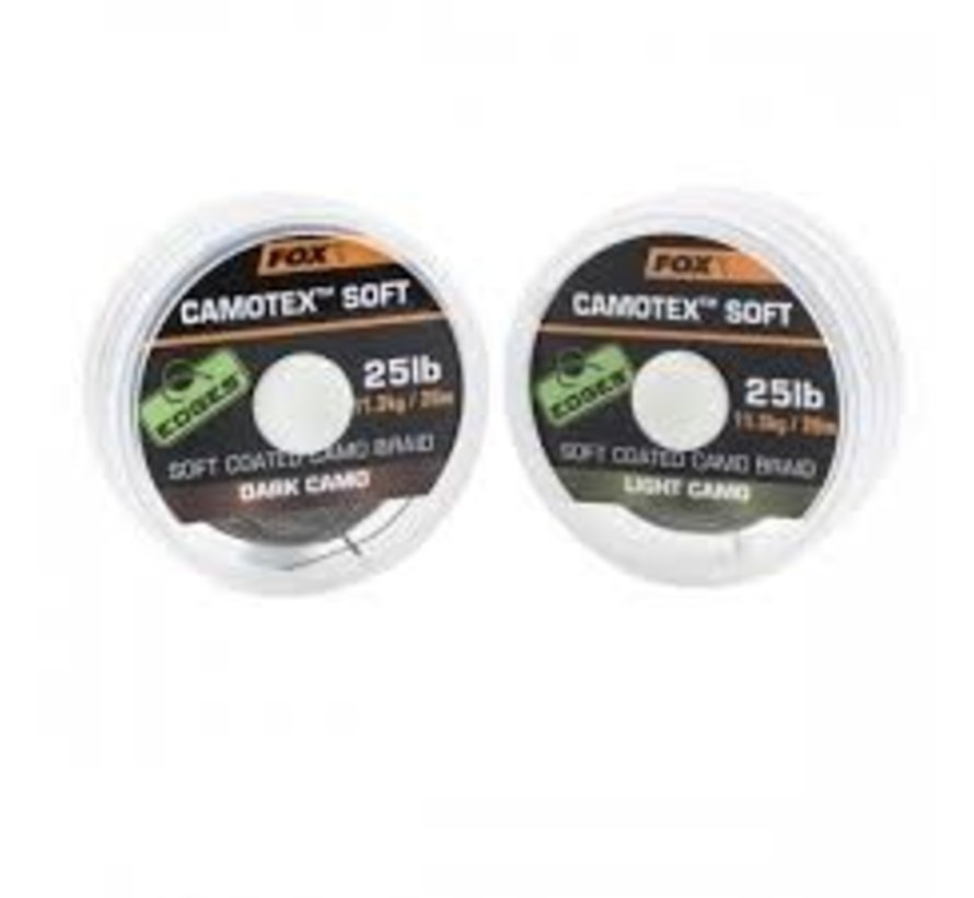 Fox Camotex Soft Coated Camo Braid - Light Camo - Onderlijnmateriaal