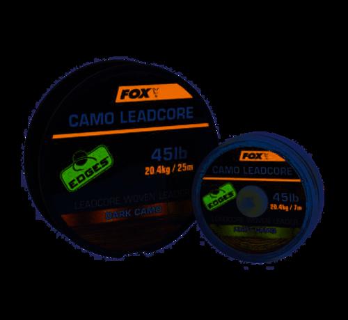 Fox Fox Camo Leadcore Woven Leader Dark Camo 7m - Leaders