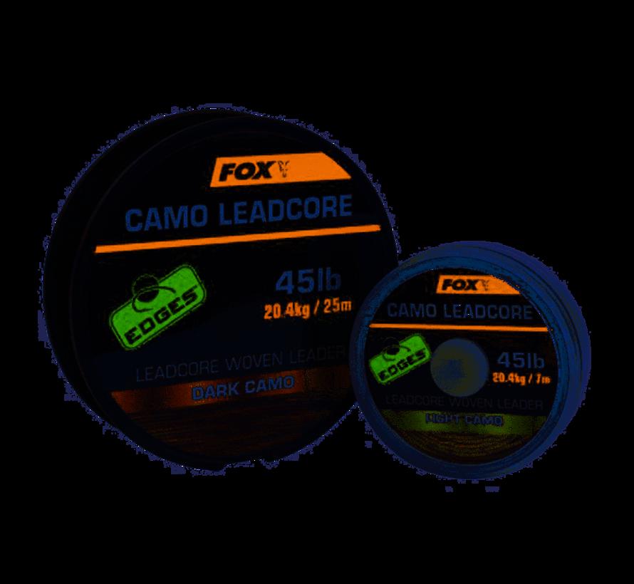 Fox Camo Leadcore Woven Leader Dark Camo 7m - Leaders