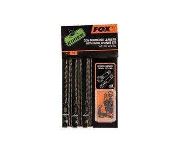 Fox Fox 30lb Submerge Leaders With Kwik Change Kit