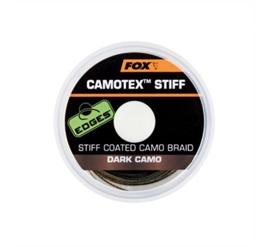 Fox Camotex Stiff Coated Camo Braid - Dark Camo - Onderlijnmateriaal