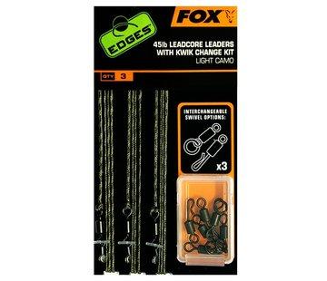 Fox Fox 45lb Leadcore Leaders With Kwik Change Kit