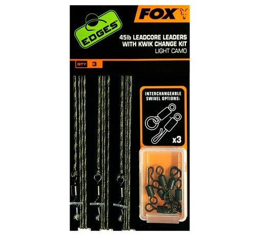 Fox Fox 45lb Leadcore Leaders With Kwik Change Kit - Leaders