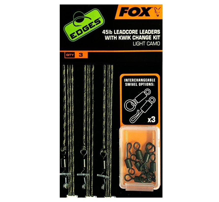 Fox 45lb Leadcore Leaders With Kwik Change Kit - Leaders