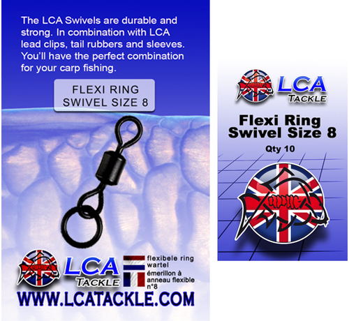 LCA Tackle LCA Tackle Flexi Ring Swivel Size 8 - Wartels