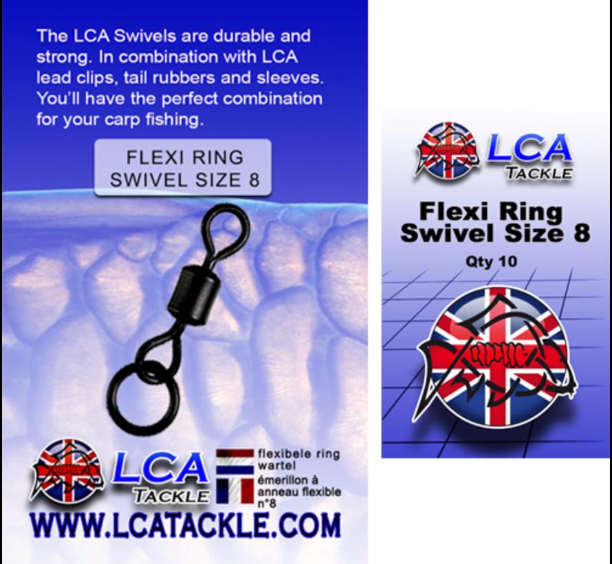 LCA Tackle Flexi Ring Swivel Size 8 - Wartels