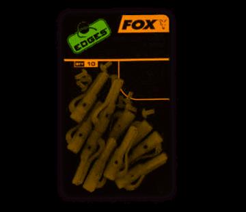Fox Fox  Lead Clips & Pegs Trans Khaki Size 10