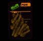 Fox  Lead Clips & Pegs Trans Khaki Size 10