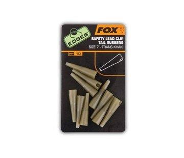 Fox Fox Lead Clip Tail Rubbers Trans Khaki