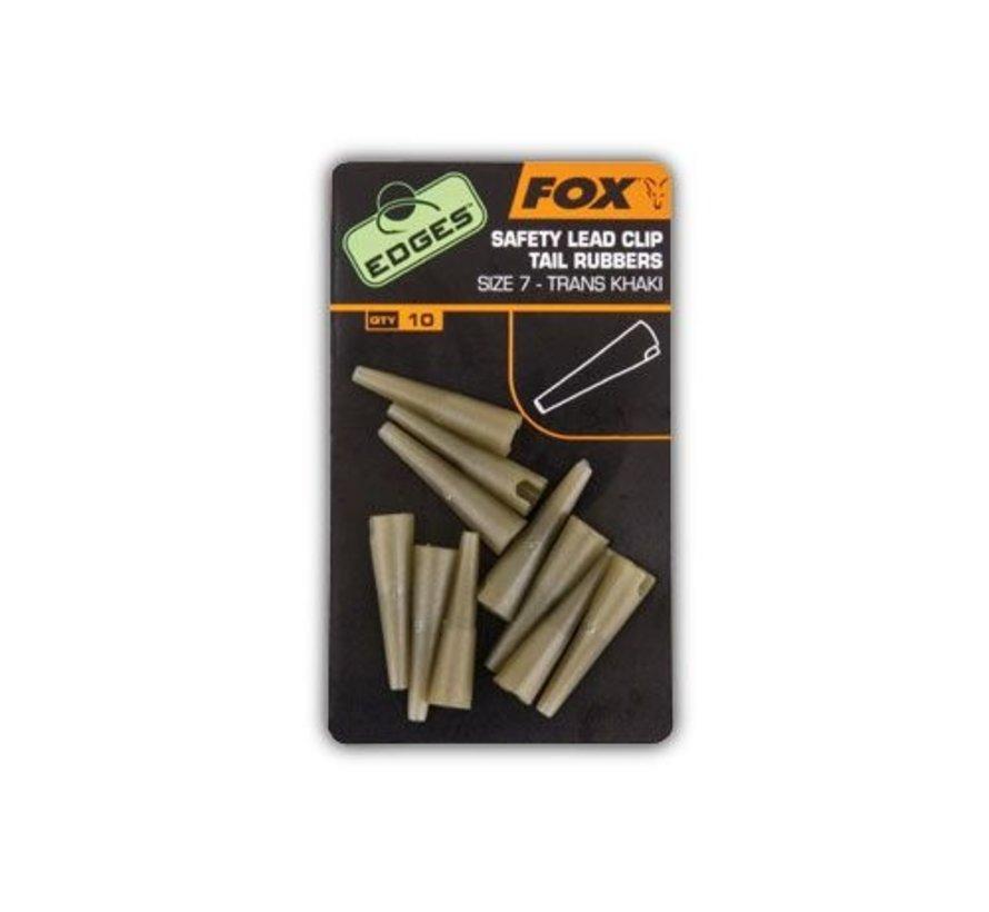 Fox Lead Clip Tail Rubbers Trans Khaki