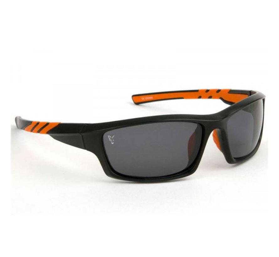 Fox Black & Orange Frame Grey Lens - Zonnebrillen